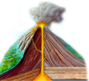 Volcano cross sectional